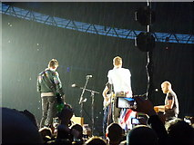 TQ1985 : Coldplay singing in the rain - A Head Full of Dreams Tour - Wembley Stadium - 12 by Richard Humphrey