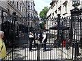 TQ3079 : Police guarding Downing Street, London by Richard Humphrey