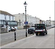 ST3049 : Sedgemoor vehicle on the Esplanade, Burnham-on-Sea by Jaggery