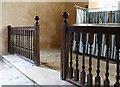 TL0063 : St Margaret, Knotting - Altar rails by John Salmon
