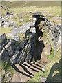 NG3338 : Stair in Dùn Beag broch by M J Richardson