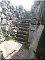 NG3338 : Dùn Beag broch stairway by M J Richardson