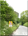 SX5457 : Warning sign north of Plympton by David Smith