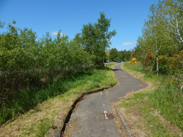 Path following line of the old military road