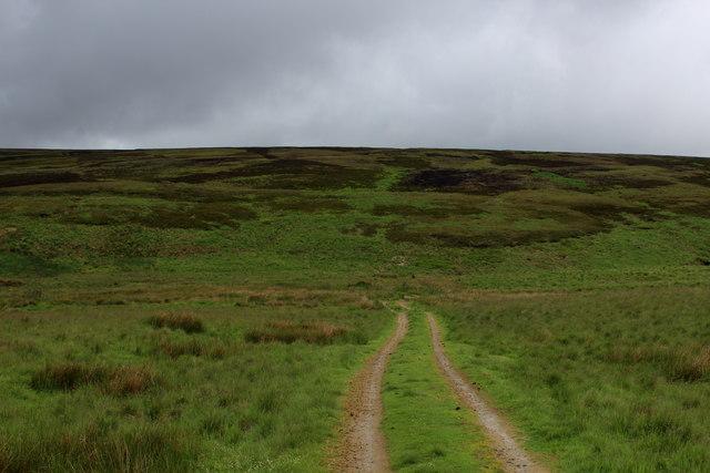 Track descending towards Greave Clough