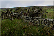 SD9433 : Ruin above Greave Clough by Chris Heaton