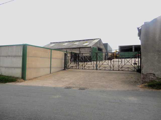 Entrance to East House farmyard