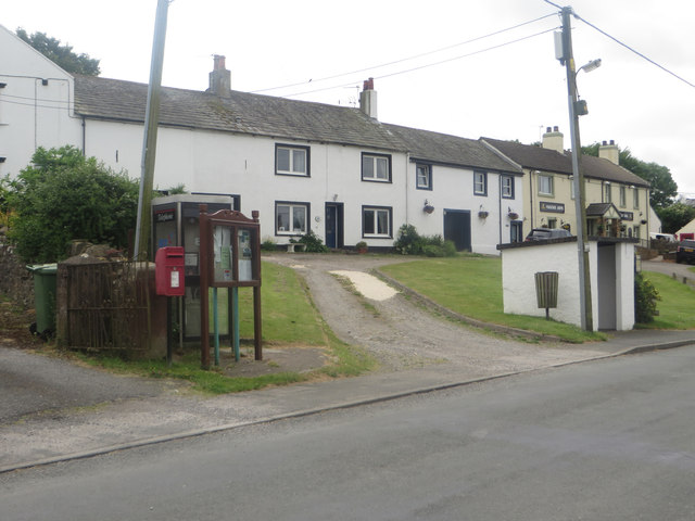 Post and phone boxes in Gilcrux