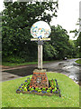 TL9578 : Coney Weston Village sign on The Street by Adrian Cable