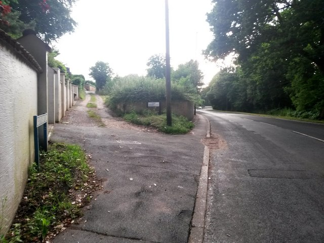 Northbourne: eastern end of Heads Lane