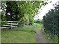 SJ8542 : Squeeze stile on footpath by Claytonwood Farm by Jonathan Hutchins