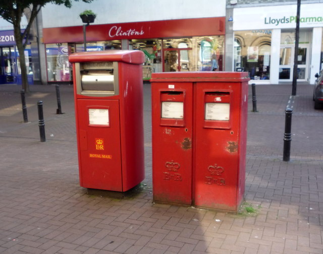 Elizabeth II postboxes on English Street, Carlisle