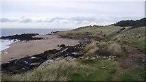 NT4884 : Beach and Black Rocks, Gullane by Richard Webb