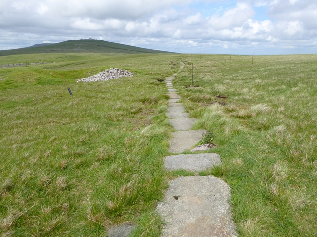 The Pennine Way on Knock Fell