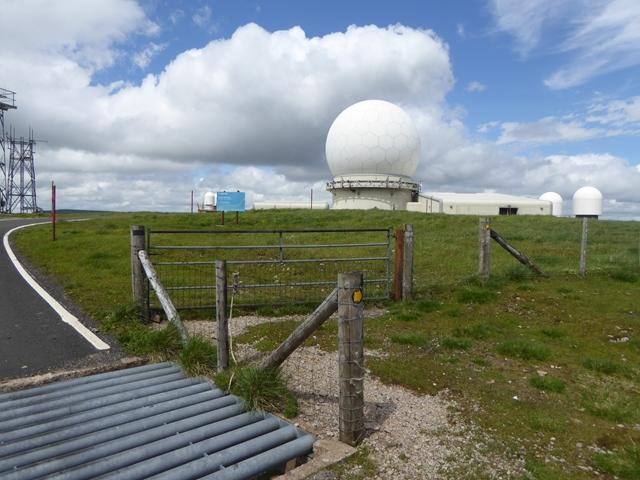 Radar installation on Great Dun Fell