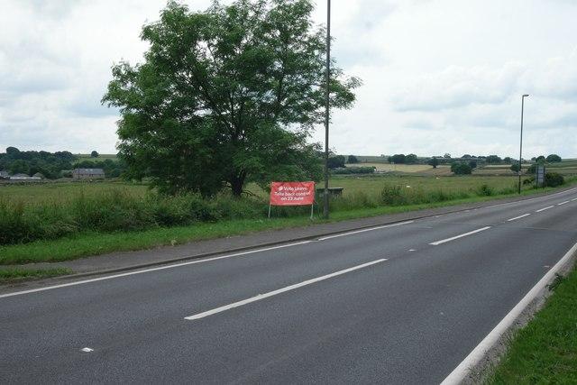 A623 at Lane Head