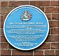 SJ9496 : Blue plaque: The Cotton Tree by Gerald England