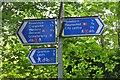 NT2373 : Signpost on North Edinburgh Cycleway, Coltbridge Viaduct by Jim Barton