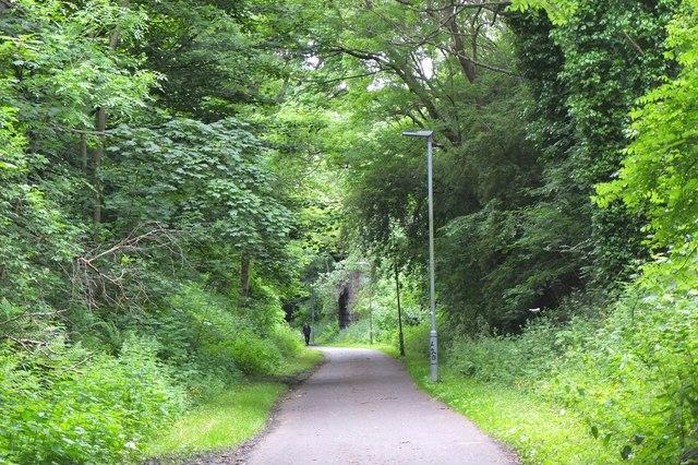 North Edinburgh Cycleway near Roseburn