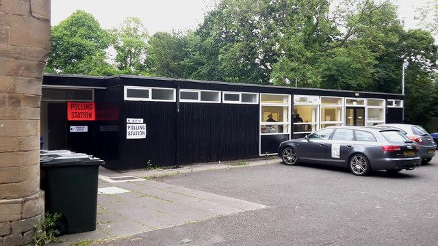 Polling station at St Nicholas Church Hall, Gosforth
