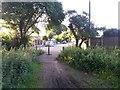 SZ0796 : Kinson: footpath E48 reaches Kitscroft Road by Chris Downer
