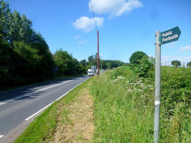 A417 near Bromesberrow Heath