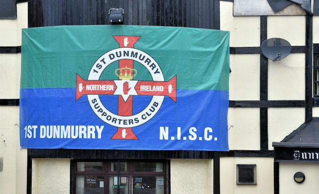 Northern Ireland football flag, Dunmurry (June 2016)