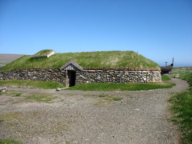 Replica Viking Longhouse at Haroldswick