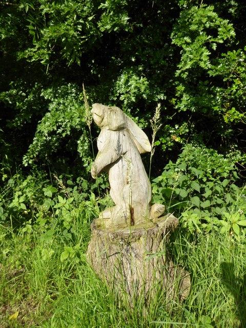Ferndown LNR: hare carving