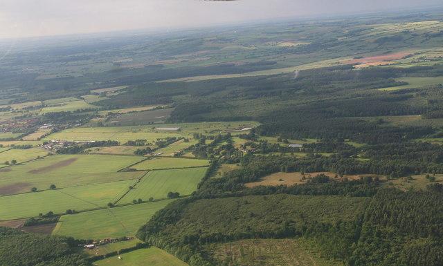 Market Rasen Racecourse and Willingham Woods: aerial 2016