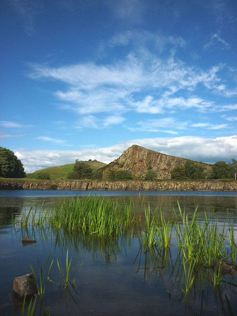 The pool at Cawfields Quarry, Hadrian's Wall