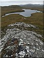 NB3314 : Rock slab on the southern slopes of Sidhean Tom Mhic Reacail, Isle of Lewis by Claire Pegrum