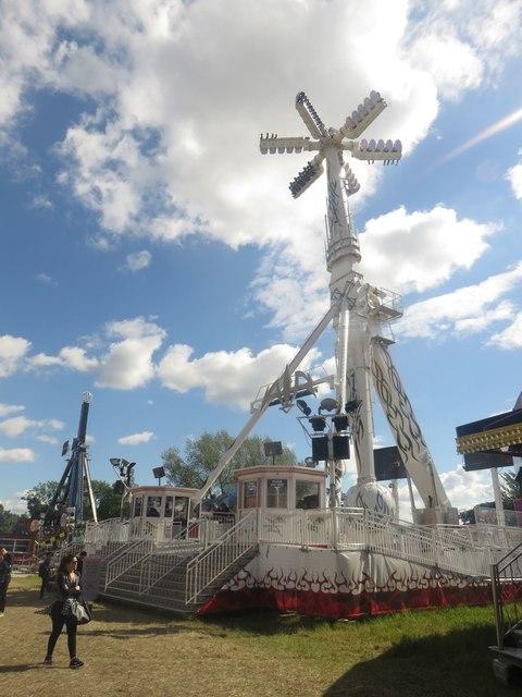 Air, thrill Ride at the Hoppings funfair, Newcastle Town Moor