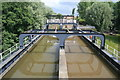 SJ6475 : Anderton Boat Lift - the approach aqueduct by Chris Allen