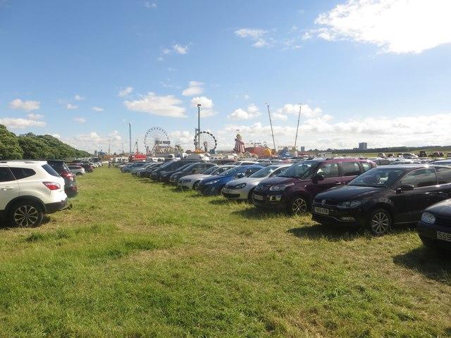 Temporary car park, Newcastle Town Moor