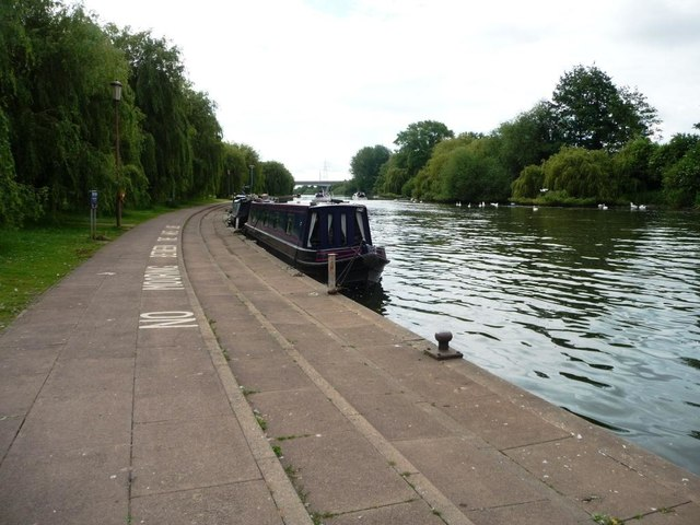 Moored boats on the River Nene, Peterborough