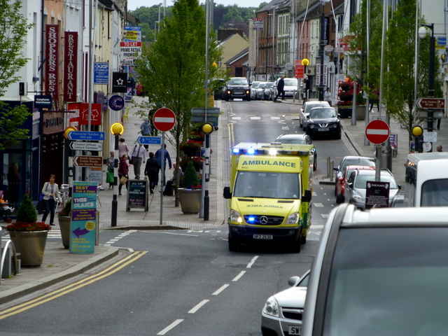 Ambulance in a hurry, Omagh