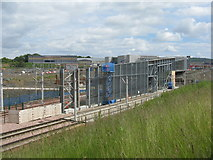 NT1772 : Station Construction at Maybury by M J Richardson