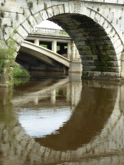 Arch in Atcham Old Bridge