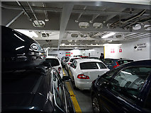 HU4642 :  The lower car deck of MV Hjaltland by John Lucas