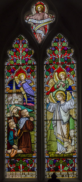 Stained glass window, St Mary's church, Reepham
