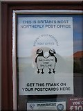HP6208 : Britain's most northerly Post Office:  sign by David Purchase