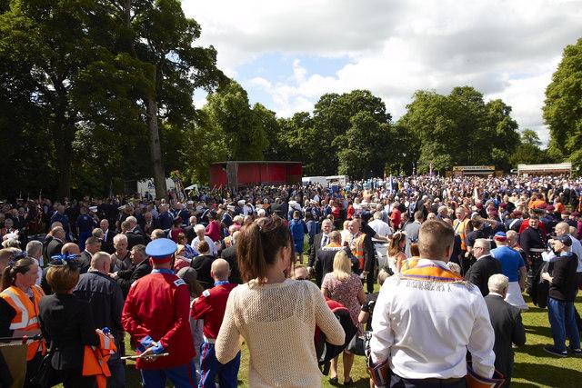 Ferguslie gardens county grand lodge parade
