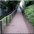 ST1780 : Entrance path to Ty Glas railway station, Cardiff by Jaggery