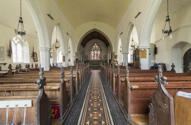 Interior, St Mary's church, Reepham