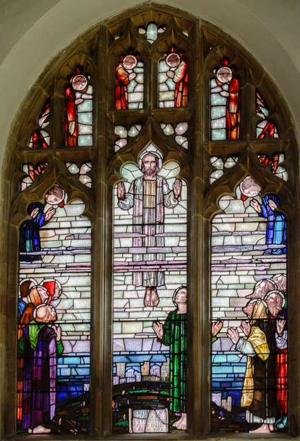 Stained glass window, St Michael's church, Reepham