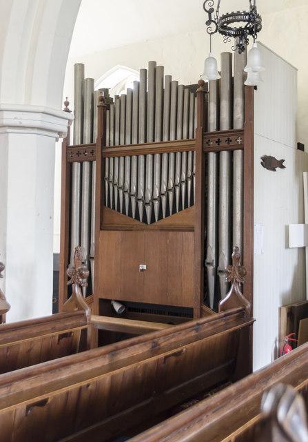 Organ, St Mary's church, Reepham