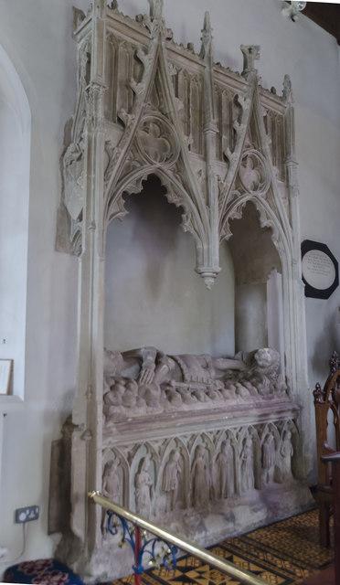Tomb of Sir Roger de Kerdiston, St Mary's church, Reepham