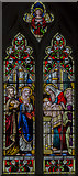 TG1022 : Stained glass window, St Mary's church,  Reepham by Julian P Guffogg
