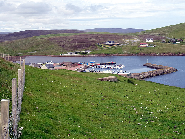 The Marina and camp site at Easter Skeld